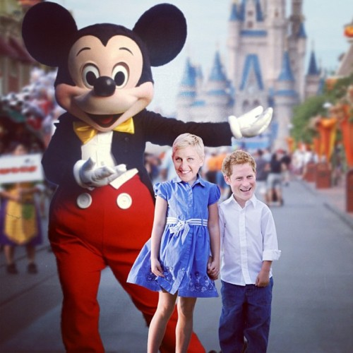ellendegeneres:  Prince Harry and I had a great time at Disneyland.