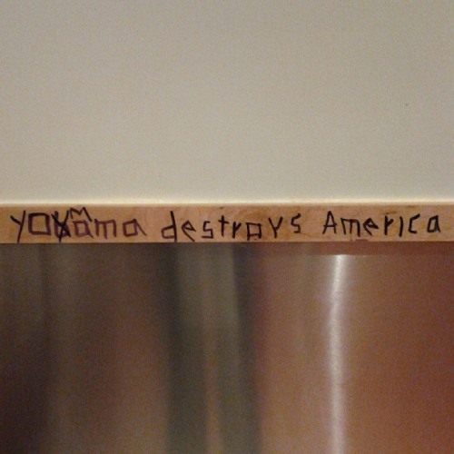 In the bathroom at Chipotle… #wow #vandalism