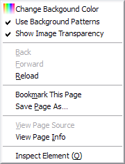 Firefox context menu
