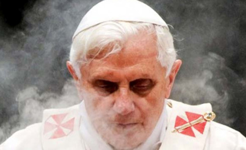 laphamsquarterly:  Déjà vu: Stepping Aside 2013: As Pope Benedict XVI steps down, questions emerge about the details of his post-papal life. 1086: Japanese emperors develop the Insei system, a process that allowed them to ritually abdicate whilst continuing to exert behind-the-scenes control.  A weekend viewing of Kurosawa's Ran (in which an abdication goes not at all as planned) and a little further reading gave birth to this post exploring the connection between the retiring pope and the Cloistered Emperors of Japan. (Also, I will never pass up the opportunity to advise Cardinals to take the advice of a 12th century court poet.)