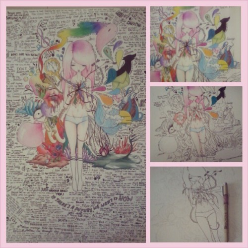 Finished! :) #drawing #colors #writing #quotes #songs #thinking #girl #mine #inside #picoftheday #school #bored #fantasy #swag #secsi