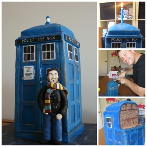 tamaleaver:    OMG Emily made me the best #TARDIS #birthdaycake ever! #doctorwho (Seriously, this is the best cake in all of time and space!!)