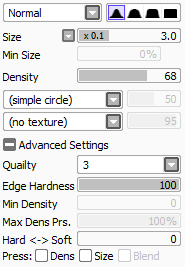 "rupoor:  YA ! !! ! BRUSH SETTING S "", 1/2…. hahHUH.,The crayon settings are actually by crayonchewer !!! ! im jsut putting the se here becuas e i seem to have terrible luck with losing my settings thanks to technical difficulties"