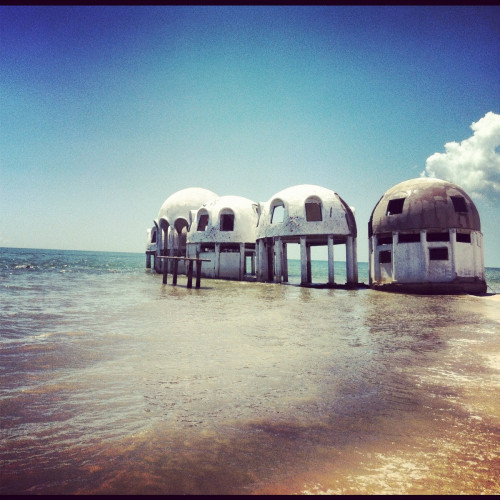 abandoned dome houses in florida.  original post on reddit