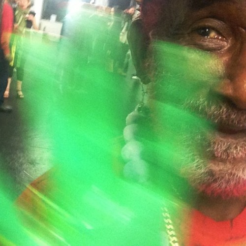 The artist #leescratchperry  waving his magic hand 2nite @dempasswords (at Dem Passwords)