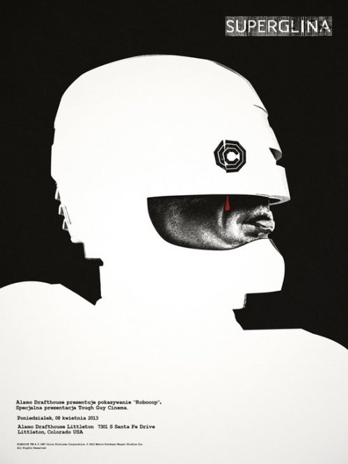 superpunch2:  Robocop poster by Jay Shaw for the Alamo Drafthouse.