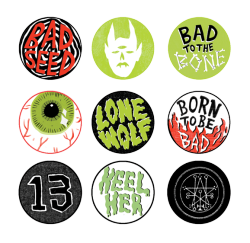 pippatooleillustration:  some new badges available to purchase soon   BUY THESE