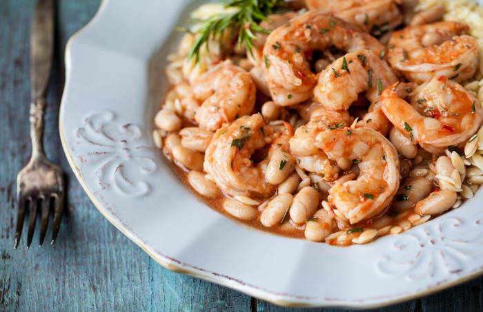 (via spicy scampi with rosemary cannellini |familystylefood|recipe)