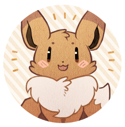 mieau:  A quick set of Eeveelution buttons for a soon-to-comeconvention. I hope they're contrasted enough without shadings… we'll see at printing. :0