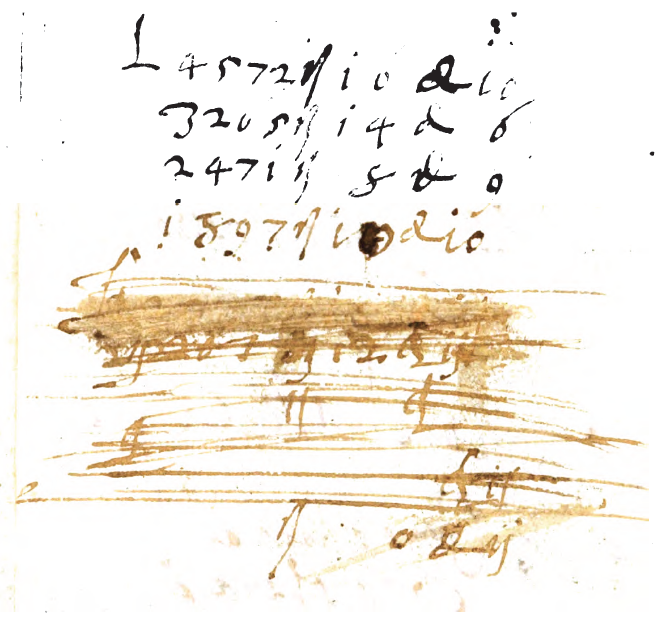 Numbers and scribbles. From the back matter of Discorso sopra il Principio di Tutti i Canti d'Orlando Furioso by Laura Terracina (1568). Original from the Bavarian State Library. Digitized June 15, 2009.