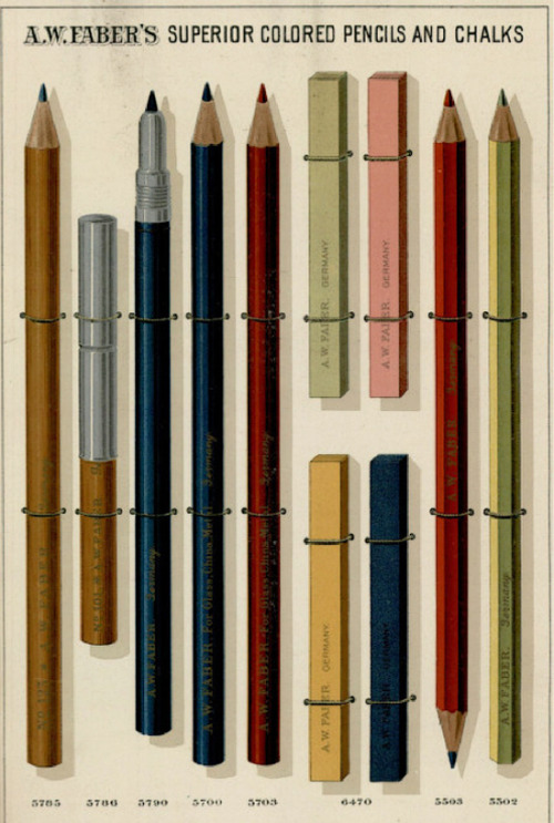 wellappointeddesk:  A.W. Faber Pencils and Chalks Catalog Page
