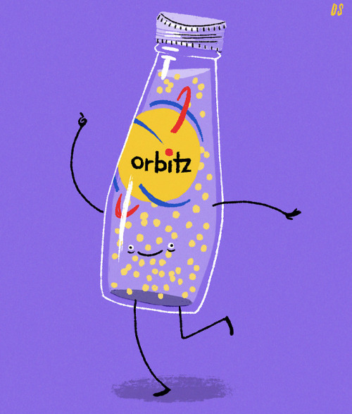 90s orbitz drawing fun personal freelance food drink nostalgia work illustration illustrators on tumblr art artists on tumblr david saracino david saracino digital color