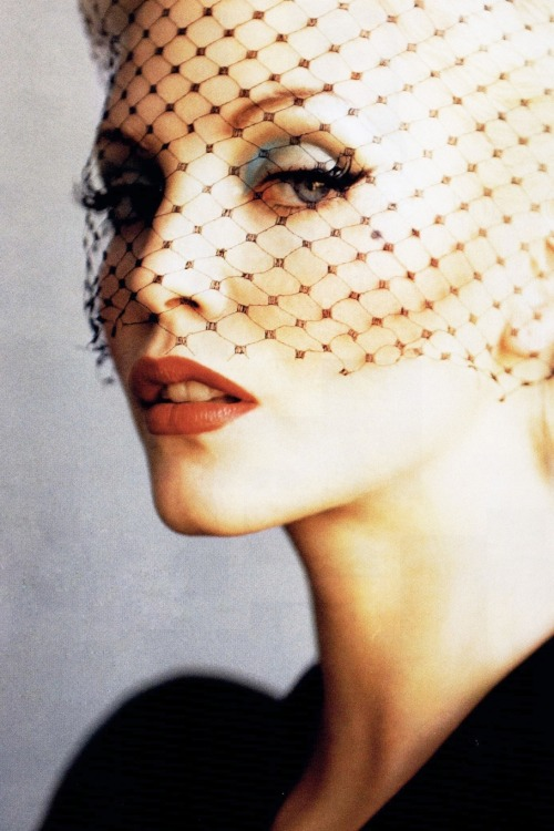 Nadja Auermann for Harper's Bazaar US January 1995