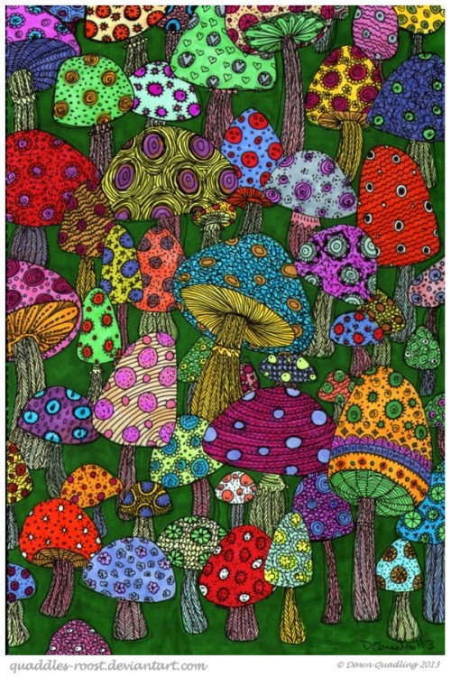 danelleisnice:  Magical Mushroom by *Quaddles-Roost