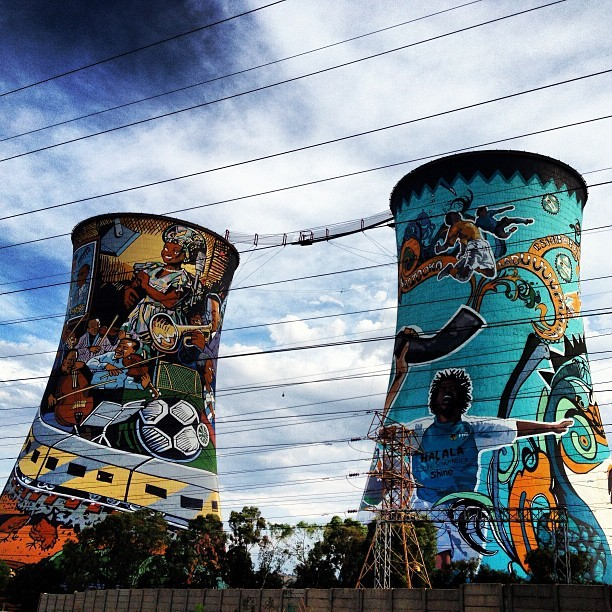 #soweto #southafrica #towers #home #joburg #johannesburg #africa #art (at Orlando Power Station (Towers))