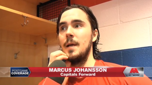 Marcus Johansson is looking a little too Zorro, but it's probably just because he's having a hard time filling in the blanks.  These young Swedes, I tell ya.