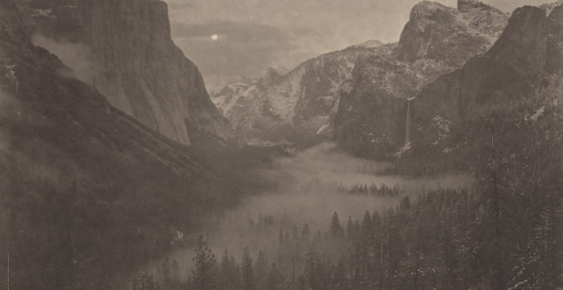 Yosemite by Takeshi Shikama, platinum palladium print on gampi paper This picture is part of the Silent Respiration of Forests serie, which explored the brooding forests of Japan and US. The platinum palladium technique  gives the photographer endless possibilities to craft the image. This process allows the opportunity to combine both the power and precision of modern technologies with the charm and passion contained in the oldest photographic processes. One of the advantages of this technique is the impregnation of finely divided platinum and palladium salts into the paper's fibers - allowing the image to be as long sustaining as the fine paper the image is printed on. In addition, it is an extremely slow print-by-contact method requiring very strong UV light, and requiring that the negative be the same size as the desired print. Check the whole process video here