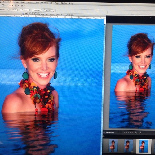 Postproduction #photo of #model @jenni1300 in the Virgin Islands last Friday.