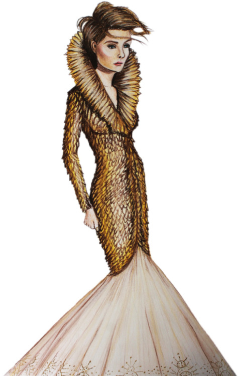 drawadot:  Alexander McQueen F/W 2010 by Andrés Gómez (via Illustration.Files: Fashion Face Off by Andrés Gómez | Draw A Dot.)