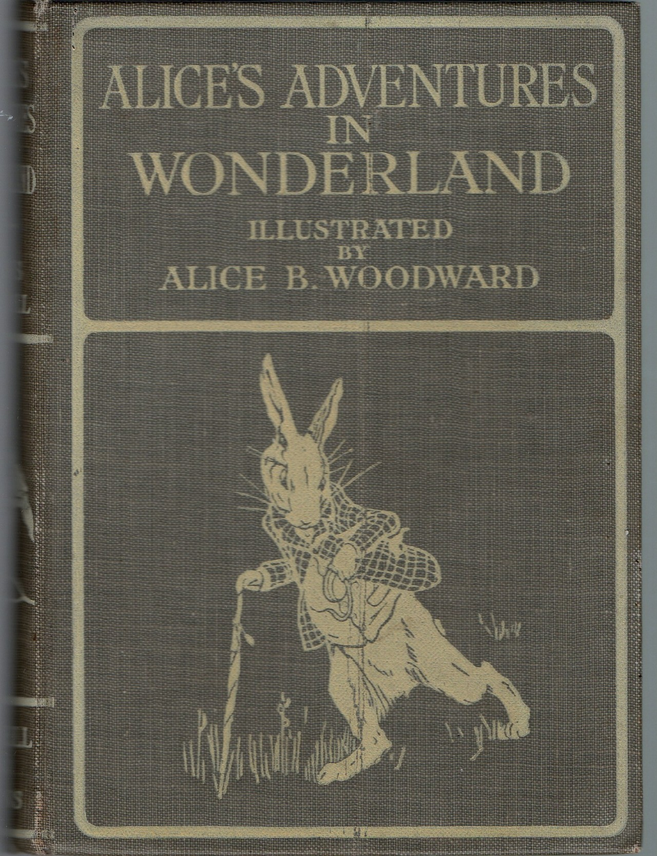 decadentiacoprofaga:  Alice B. Woodward cover for Alice's Adventures in Wonderland, published by Bell, 1913. Source.