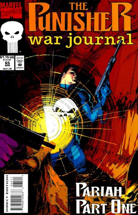 comicblah:  The Punisher War Journal #65 cover by Bill Sienkiewicz