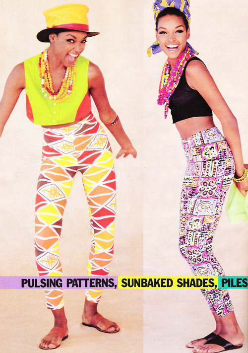 "justseventeen:   June 1991. ""Pulsing patterns, sunbaked shades, piles of beads…way cultured."""