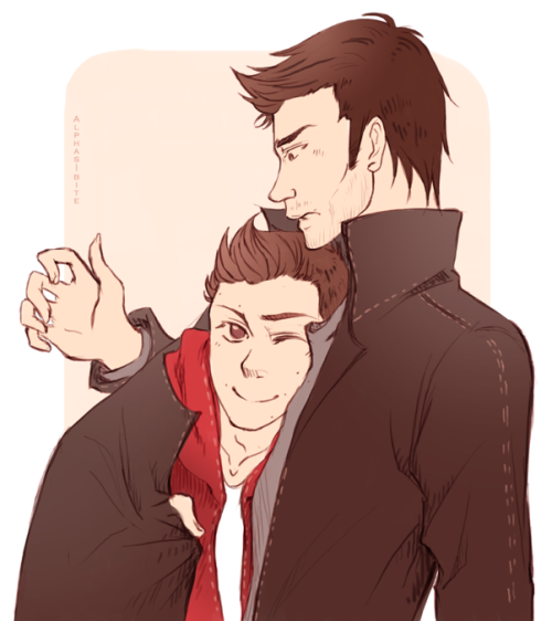 alphas-bite:  Uses of a leather jacket #11: To cuddle.