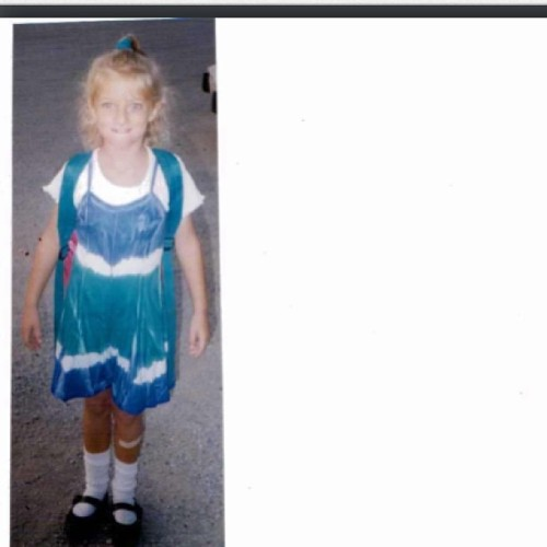 #throwbackthursday of my first day of first grade, fitting for my last day of college.