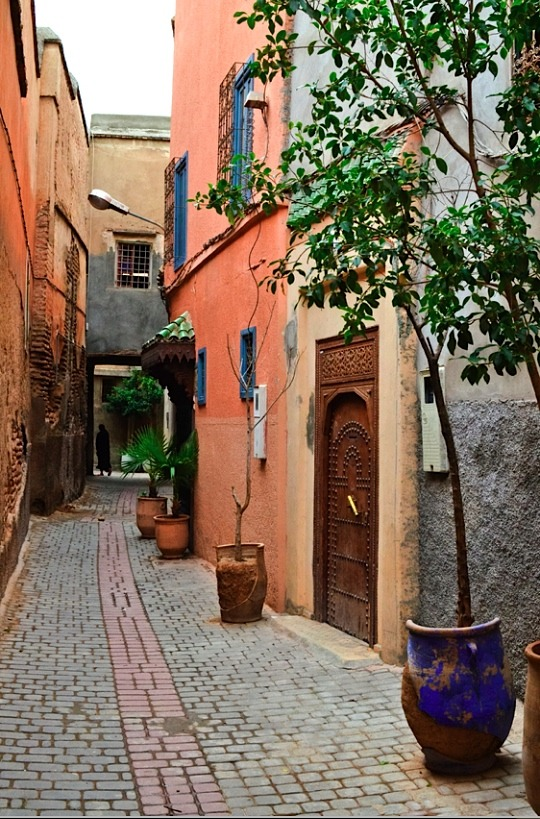 | ♕ |  Moroccan passage in Vieux Marrakech  | by © Audrey