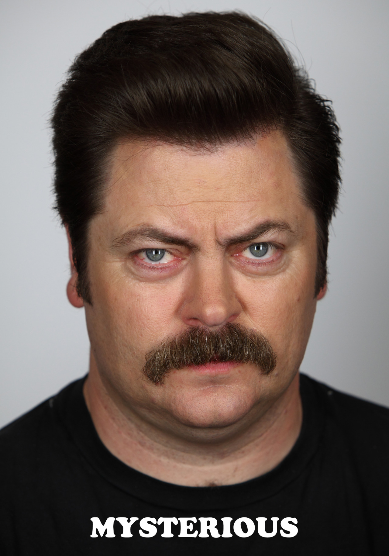 nbcparksandrec:  Today, Ron is feeling mysterious.