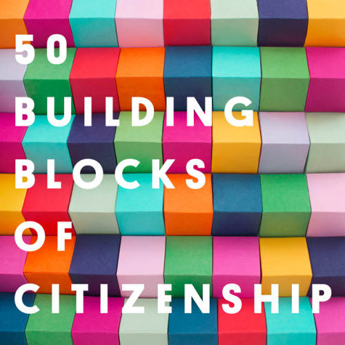 Building Blocks of Citizenship: 50 Ways to Be a More Engaged, Active Citizen This Year- Joshua Neuman wrote in Citizenship and Building Blocks Of Citizenship Even for the human race, we are newborns when it comes to citizenship. Our notion of citizenship was born out of the 18th century—if human history were plotted out on a calendar that would make the citizen's birthday December 31 at 11:59 p.m. and 59 seconds.  In the scheme of things, we're newcomers to the very notion of citizenship. And we're not exactly working overtime to catch up. While we routinely spend our entire lives becoming good family members and our adulthood becoming good parents, when it comes to being good citizens, we're stuck in a prolonged infancy. That's why we'll be sharing essays, reports, and provocations over the next 50 weeks to reinforce 50 key building blocks to citizenship. Play around with them, experiment, stack them up, DO them—hopefully, by the end, we'll have learned to walk. Citizen Building Block #1: Consume Local News Citizen Building Block #2: Champion a Pet Issue This post is part of the GOOD community's 50 Building Blocks of Citizenship. Follow along, join the discussion, and share your experience at #goodcitizen. Illustration by Jessica De Jesus