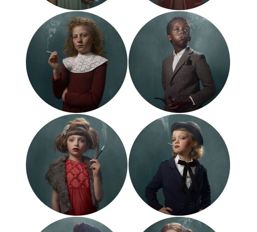 beatonna:  Look at all those classy smoking babies by Frieke Janssens  Click through and check out the individual images. The outfits/makeup/photographsingeneral are amazing