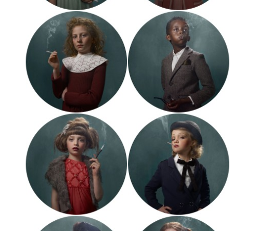 beatonna:  Look at all those classy smoking babies by Frieke Janssens