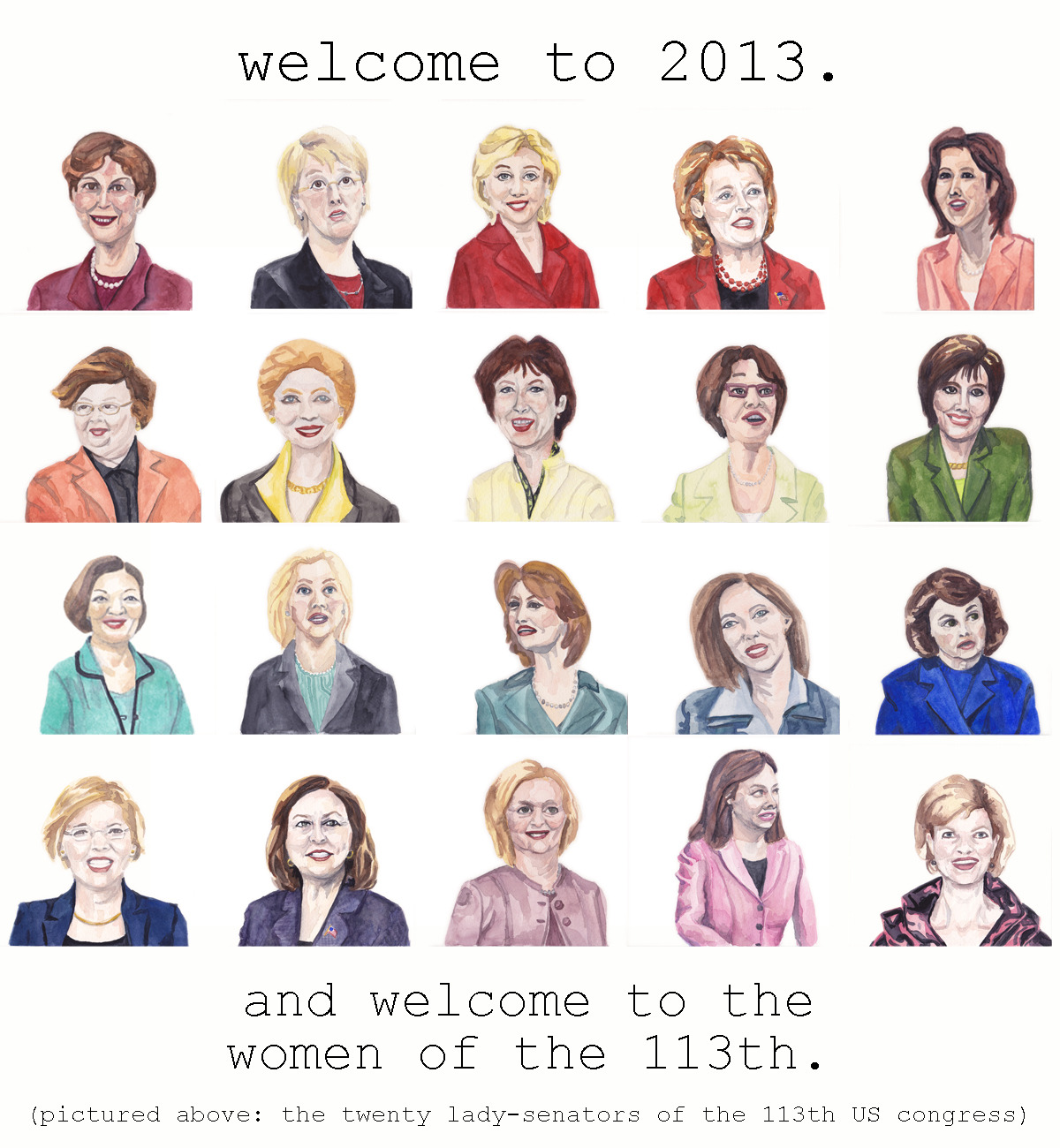womenofthe113th:  Happy New Year from the Women of the 113th!