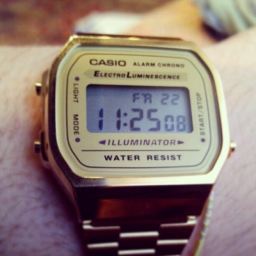 6£ #casio #gold #watch #a168 - @lodi_m- #webstagram