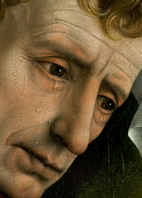 c0ssette:  Rogier van der Weyden, Descent from the Cross - Deposition (detail), 1435.