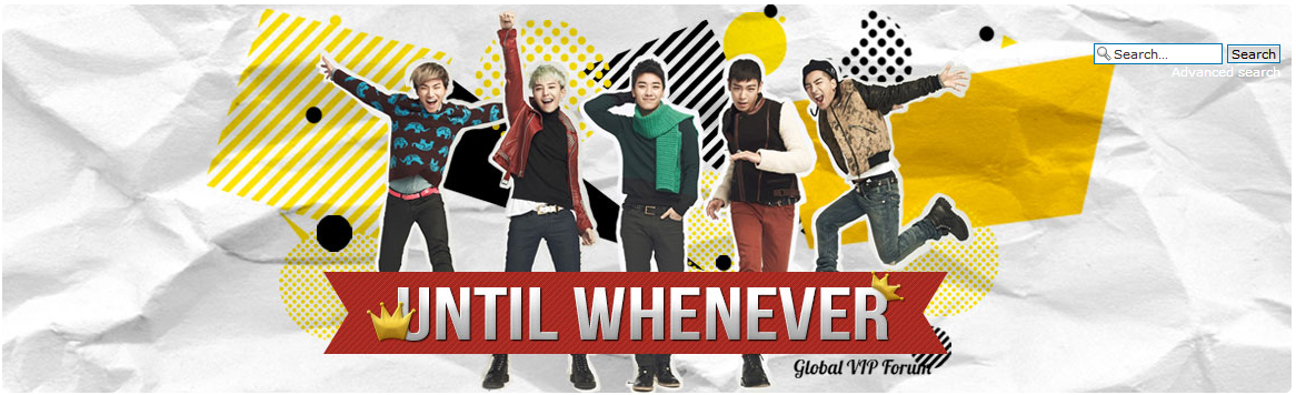 shaysonic:  New BigBang International Forum - http://untilwhenever.com/ For you avid VIP's out there, a new International BigBang forum calledUntilWhenever has opened up! So please check the forum out, register, interact with one another and help spread the word about this forum!
