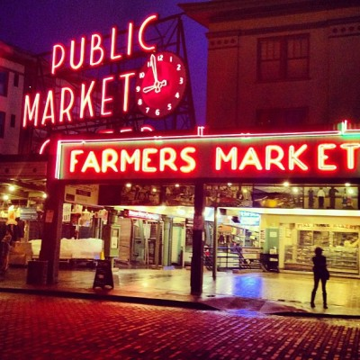 Pikeplace Famers market, Seattle (at Pike Place Fish Market)