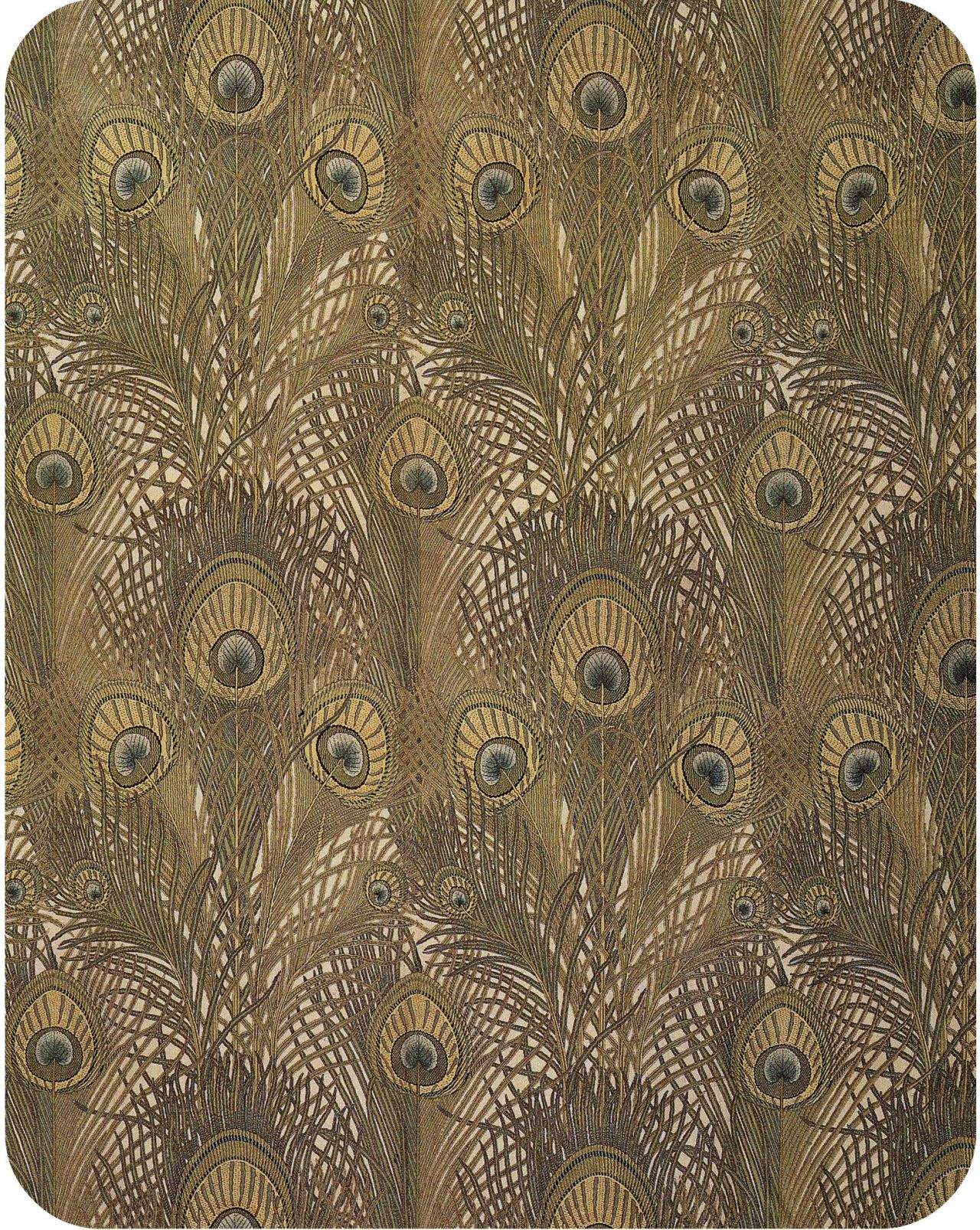 Peacock print (1884), designed by Arthur Silver for Liberty from Textile Designs by Susan Meller and Joost Elffers via
