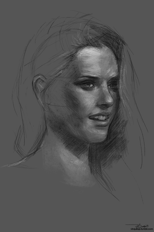Kristen Stewart sketch I do smaller sketches whenever I'm on a break from a huge painting, and here's one.