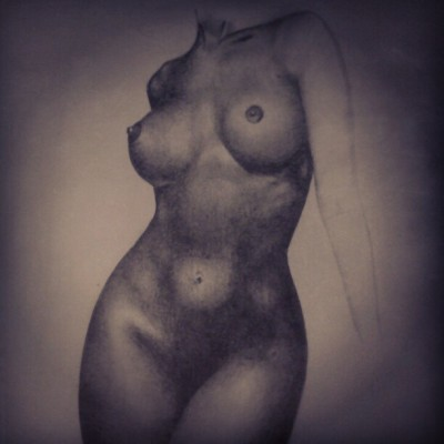 mzcigz:  Progress #art #drawing #portrait #nudeart