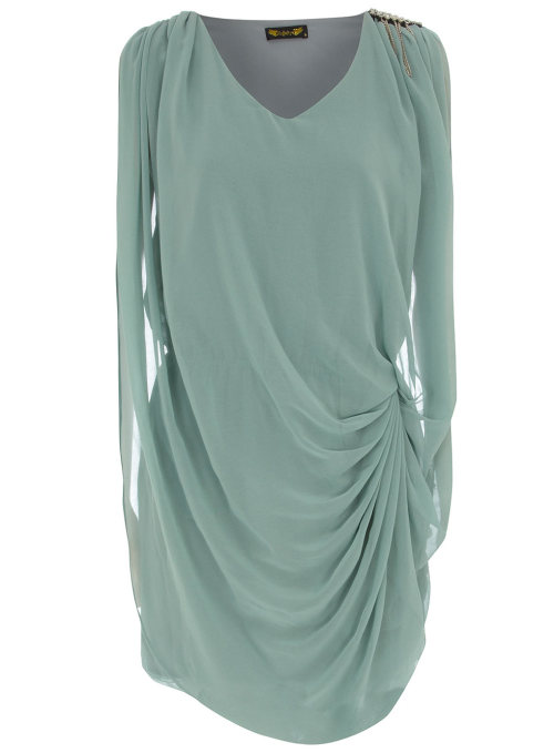 Embellished Drape Dress by Dorothy Perkins