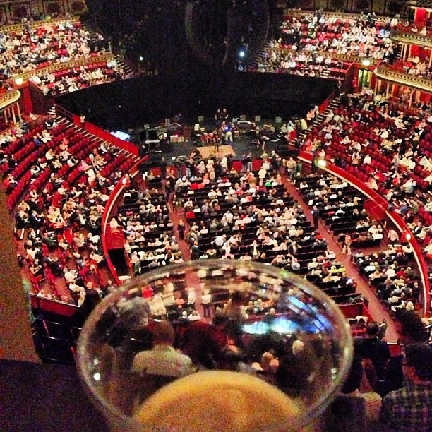 Moved up to the tip-top of the Albert Hall to watch Clapton from the Gallery. Far up, but sick view & sound.  (at Royal Albert Hall)