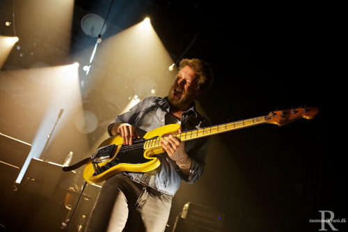 Ted Dwane of Mumford & Sons performs at Falkoner in Copenhagen, Denmark on 8th April, 2013. Photo © Rasmus Ejlersen (Website/tumblr/Facebook/twitter).