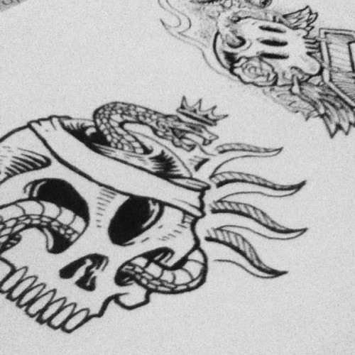 Tatotato #design #illustration #art #skull #americana