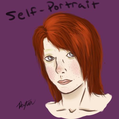 Really rough semi-realistic self-portrait I did today. It looks really crappy don't look *covers it up*