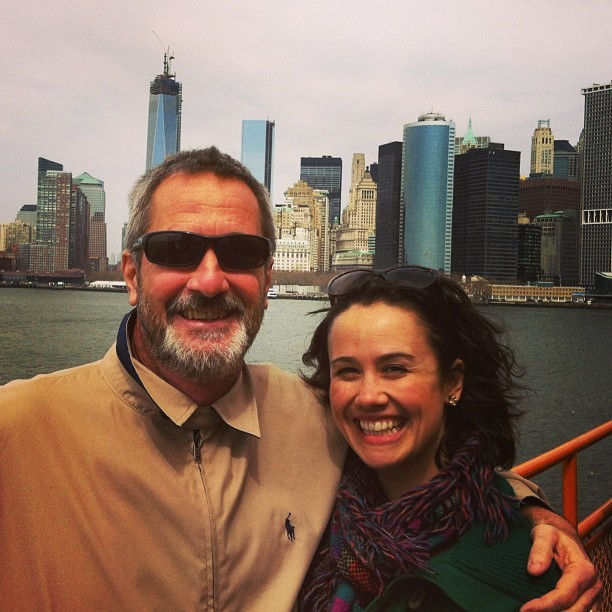 Me with daddio (at MTA S42 Staten Island Ferry)