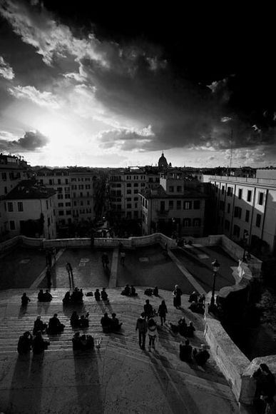 the exact spot at which i feel most creative . spanish steps, roma