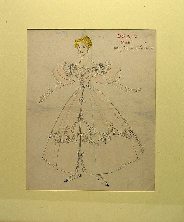 Costume sketch for Mimi by Doris Zinkeisen, 1935