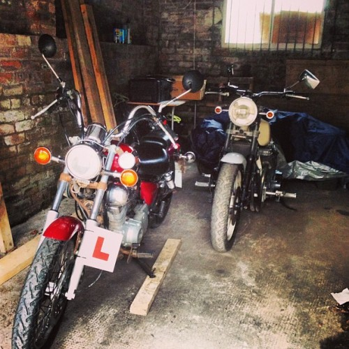 Bike and trike! #yamaha #xv #125cc #1100cc #motorbike #trike #garage #iPhone #scotland #cool #awesome #bringonsummer